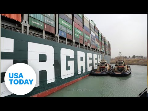 Container ship set free after days stuck in Suez Canal, canal service says  | USA TODAY