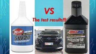 Red line oil VS AMSOIL 5W20 Lab testing reveals the WINNER