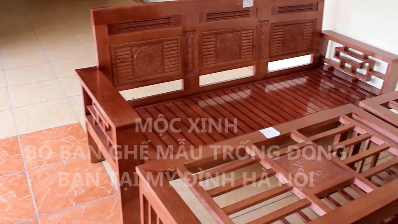 Bàn ghế phòng khách gỗ Sồi tự nhiên được ưa chuộng giá 7 triệu