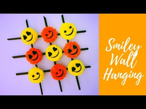 DIY Smiley Wall Hanging - Paper and Yarn DIY Ideas ( Super Easy ) | Karthika Loves DIY