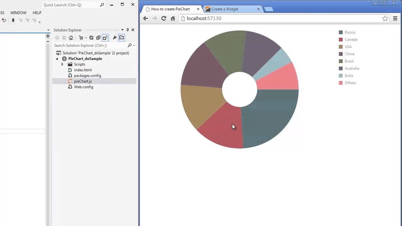 Devexpress devextreme html5 pie chart in asp youtube geenschuldenfo Image collections