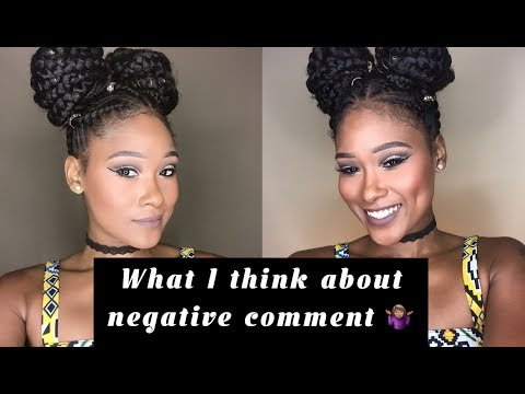 What I think about  negative comments