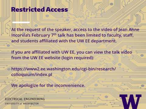 UWEE Research Colloquium: February 7, 2017 - Jean Anne Incorvia, Stanford University [unavailable]