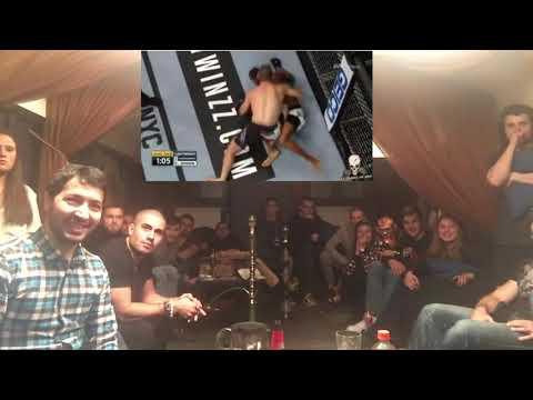 Russian's Reaction Of Khabib Vs M Johnson UFC 205