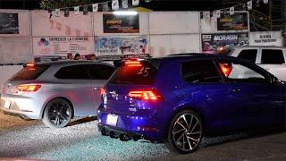 Golf R Vs Cherokee SRT8 Vs Cupra 290 Vs Audi s3 | ARRANCONES AUTÓDROMO CULIACÁN