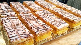 Mille Feuille الميلفاي(ميلفاي) المخبزات ناجحة مليون في 100/حلوى الميلفاي/حلوى دواز اتاي/حلويات العيد