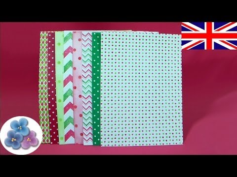 How to paper Christmas DIY *Make Paper for Scrapbook Ideas ...