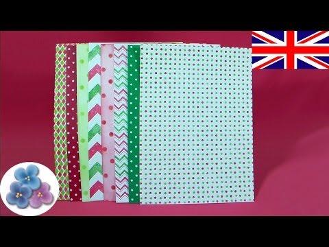 how to make scrapbook paper