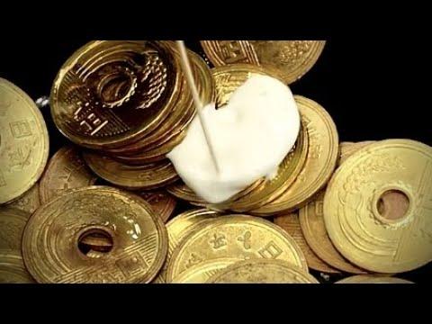 coin restoration Time lapse コイン磨き5円玉手芸の準備 酢 ピカール ASMR