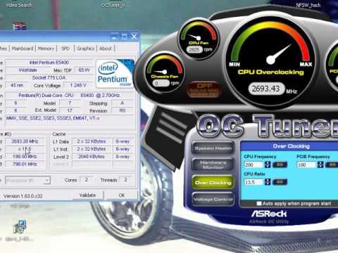 Asrock PV530A OC Tuner Vista