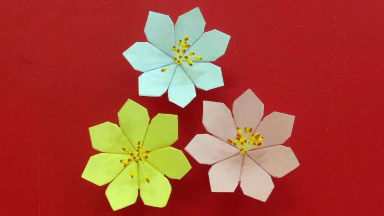 Make a beautiful paper flower easy origami flowers for beginners make a beautiful paper flower easy origami flowers for beginners making diy paper crafts youtube mightylinksfo Gallery