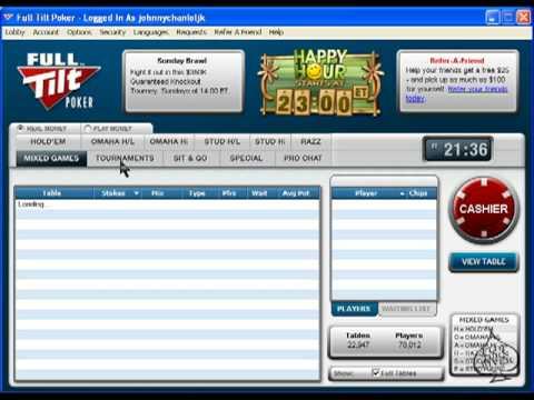 Full Tilt Poker Review - Lobby And Table Walkthrough