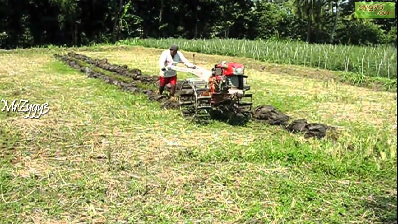 Farm Tractor 2 Wheel : Kubota wheel tractor plowing farm field youtube