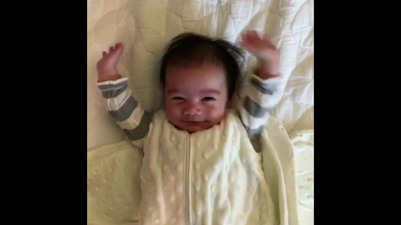 Cute Baby Throws His Hands Up After Being Unswaddled Kpthebaby