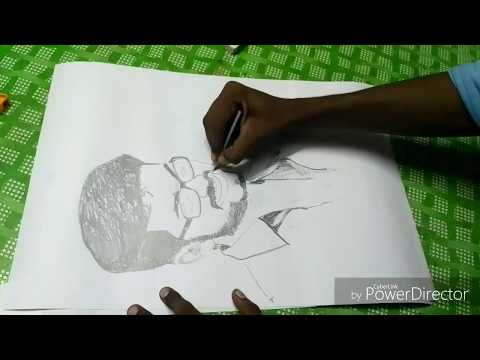 Mersal Vijay Photo Sketched by die hard vijay fan