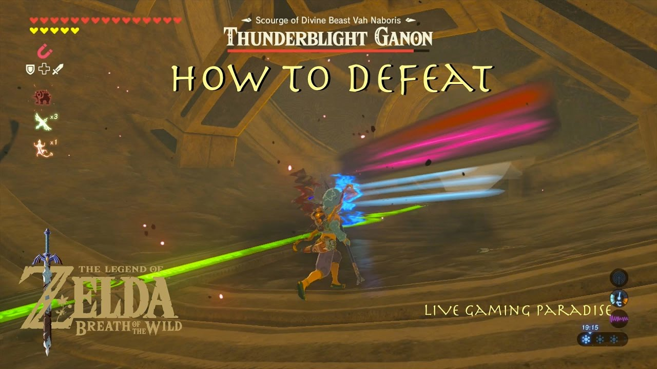 Breath Of The Wild Thunderblight Ganon In 6 Minutes Guide