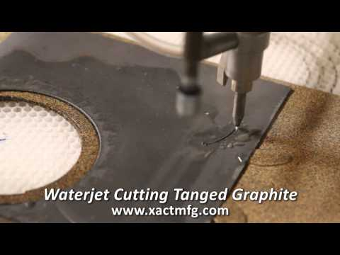 Waterjet Cutting Tanged Graphite