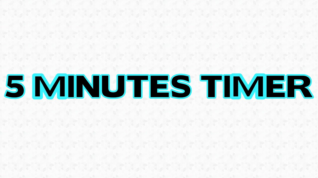 5 minutes countdown timer - YouTube