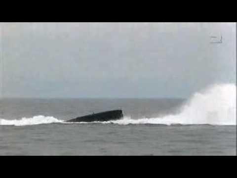 Dutch submarine Walrus class emergency surface