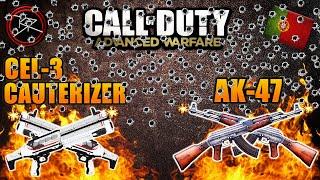 novas armas cel 3 cauterizer e ak 47 assault rifle no multiplayer do advanced warfare pt br