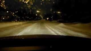 Pontiac G8 GT on snow day with Bridgestone Blizzaks