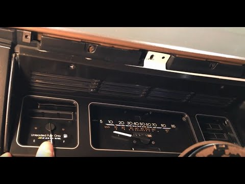 Removing The Instrument Cluster - 1985 Chevrolet Caprice Classic