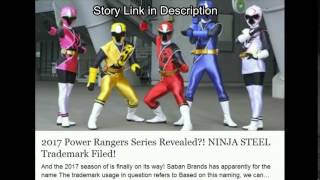 Power Rangers Ninja Steel 2017 Trademark Saban Brands