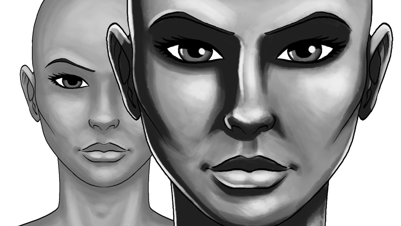 How to use Light and Shadow on faces - Photoshop painting ...