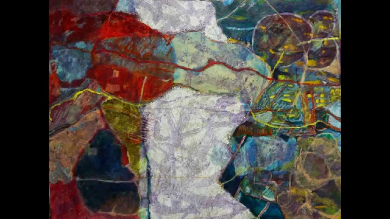 D monstration de peinture l 39 huile abstraite sur papier format 65x50 cm - Peinture a l huile abstraite ...