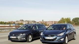 VW Passat vs. Hyundai i40 Gegenwind fr den Passat смотреть