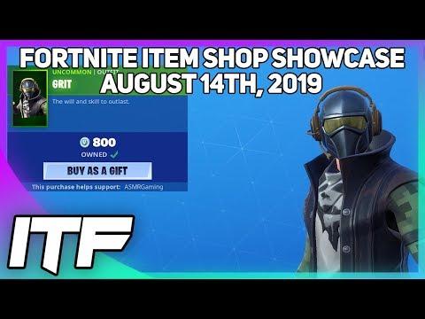 Fortnite Item Shop *NEW* GRIT SKIN! [August 14th, 2019] (Fortnite Battle Royale)