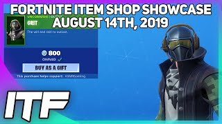 Fortnite Item Shop 'NOUVEAU' GRIT SKIN! [14 août 2019] (Fortnite Battle Royale)