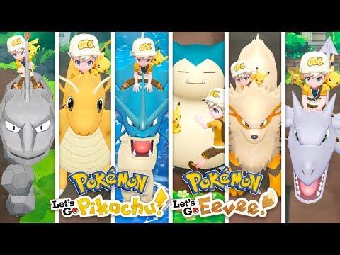 Tutti i POKEMON CAVALCABILI di Pokemon Let's Go Pikachu e Eevee!
