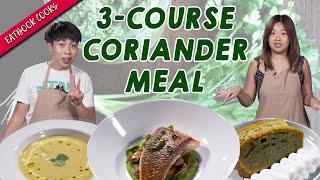 3-Course Coriander Meal   Eatbook Cooks   EP 44