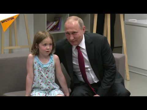 Vladimir Putin Visits Russian Cultural Centre in Paris