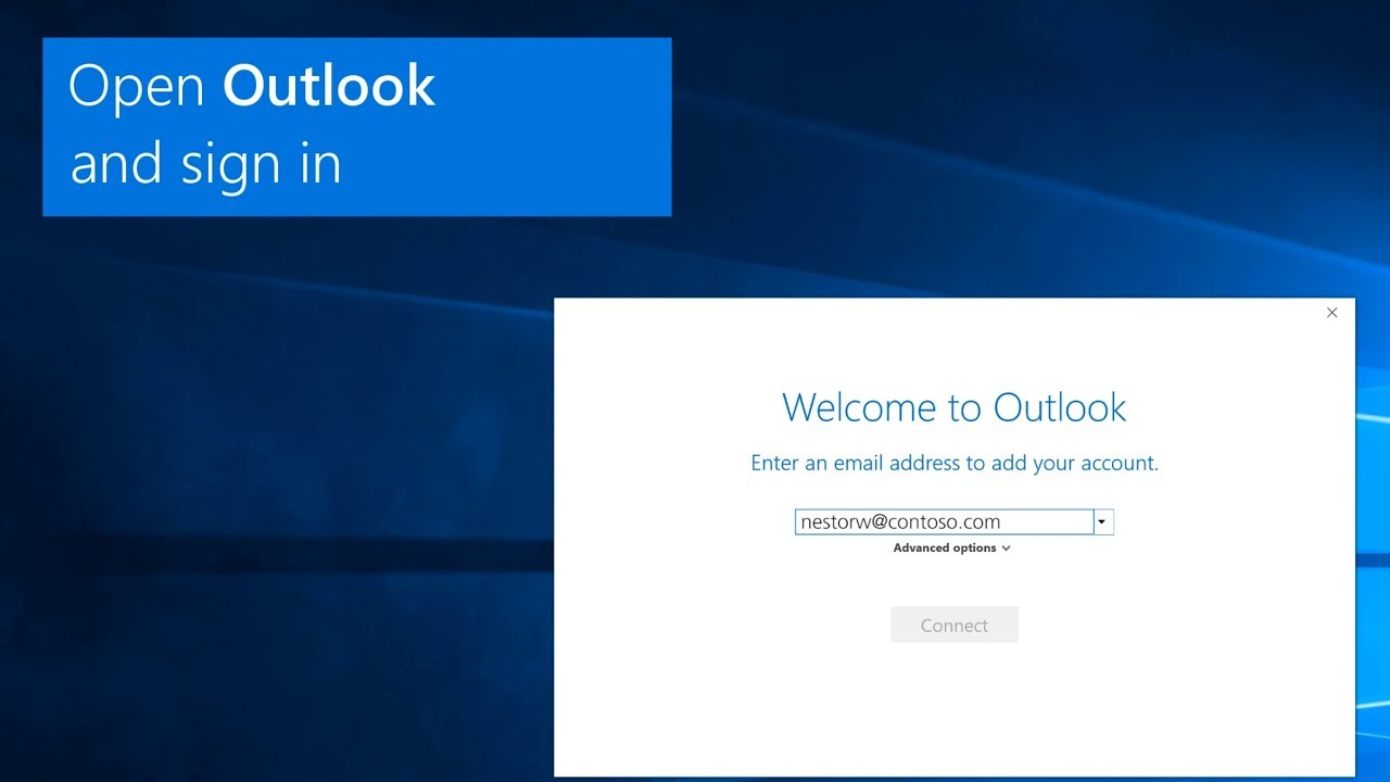 Add an Outlook.com or Office 365 account in Outlook