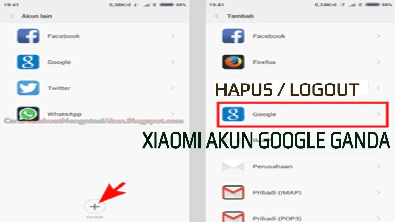 cara hapus akun google ganda di hp