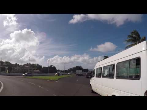 Martinique Route vers Fort de France, Gopro / Martinique Road to Fort de France City Center, Gopro