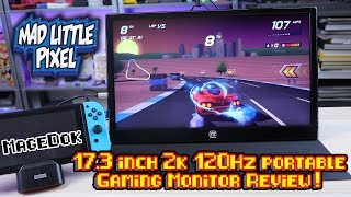 MageDok 2K 120Hz 17 Inch Portable Gaming Monitor For Switch, PlayStation Classic & More!