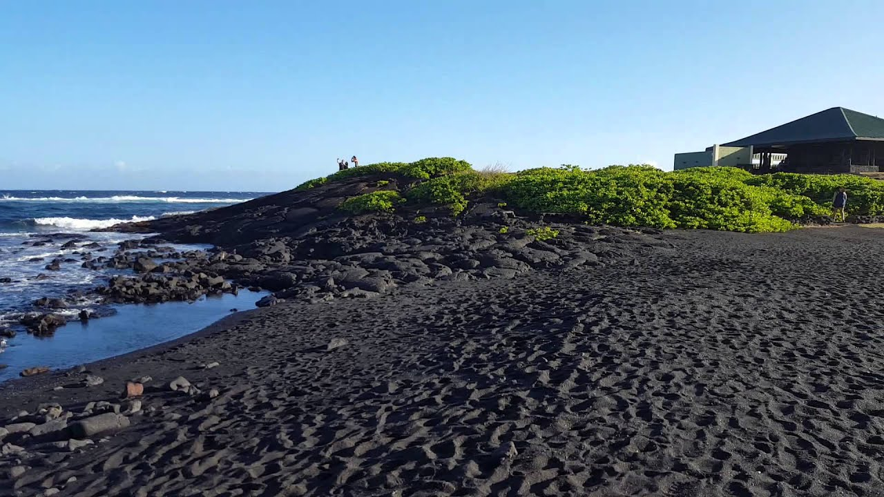 Black sand beach on the big island of hawaii youtube Black sand beach hawaii