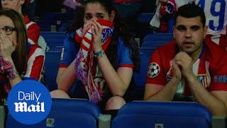 Atletico fans devastated after Champions League penalty defeat - Daily Mail