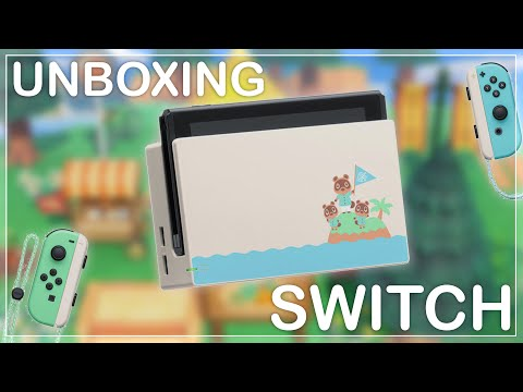 UNBOXING DE LA NINTENDO SWITCH ANIMAL CROSSING !