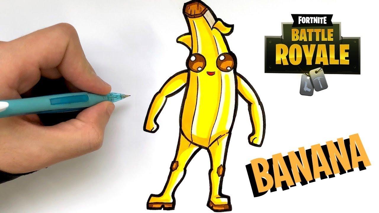 como desenhar banana skin fortnite - fortnite para dibujar banana