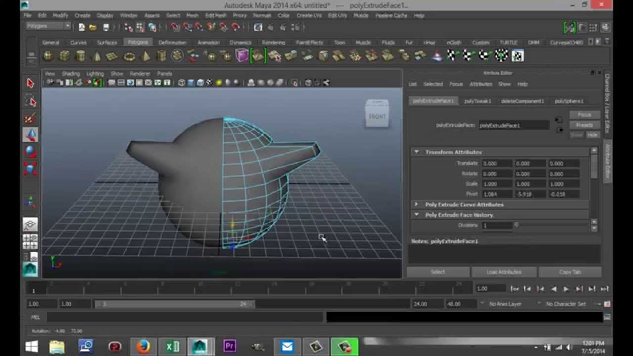 Maya 2014 tutorial : How to mirror objects while box ...
