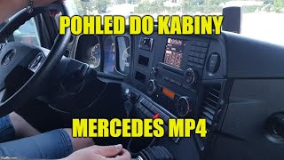 POHLED DO KABINY - MERCEDES ACTROS MP4 INTERIOR