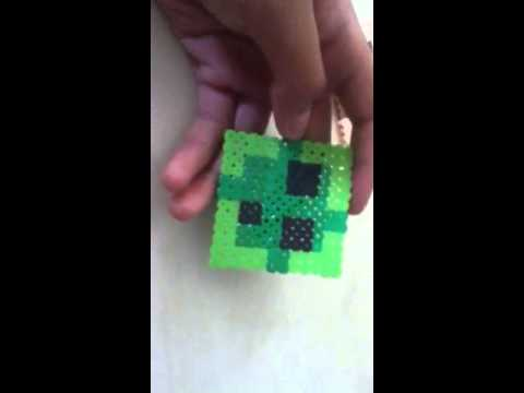 Minecraft Melty Beads Slime And Steve Youtube