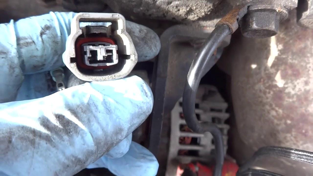 nissan sentra coolant temperature sensor wiring repair [ 1280 x 720 Pixel ]
