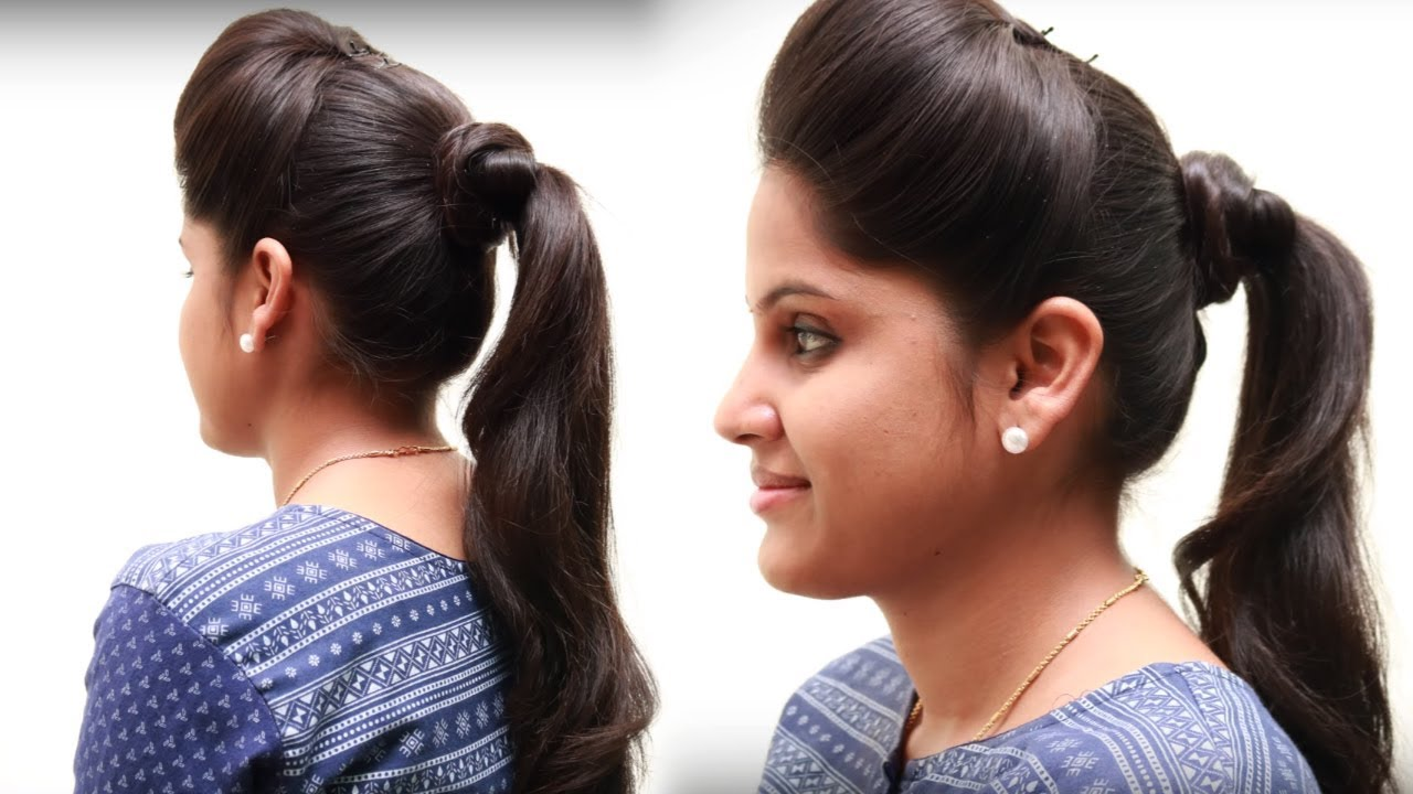 girl hair style 5 different ponytail hairstyles for hairstyle for 1781 | maxresdefault