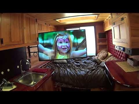 Rich's Box Truck to RV #114 - It's all about the TV getting installed