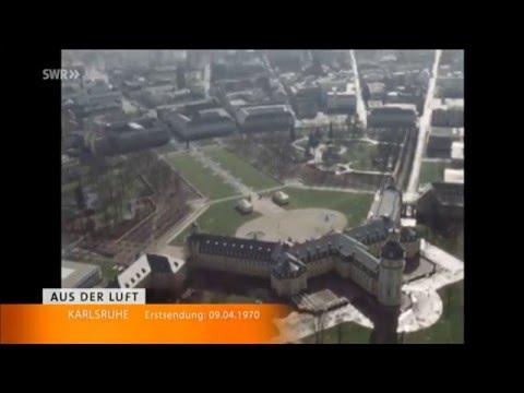 Karlsruhe 1970 aus der Luft